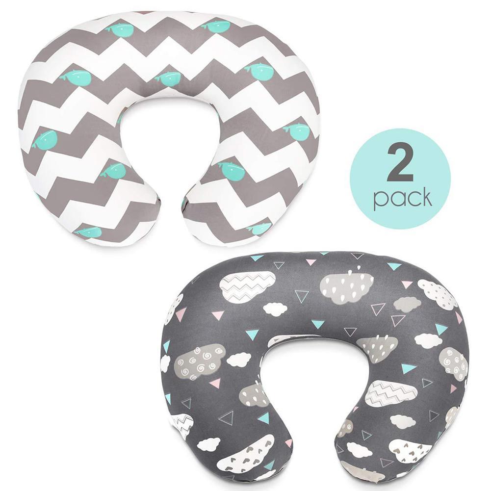 2pcs Baby Feeding Nursing Pillowcase Infant U-shaped Pillowslip Maternity Waist Cushion Cover Infant Bedding Pillow Cases