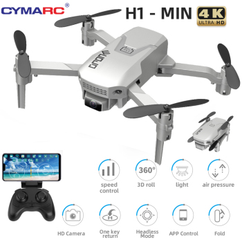 CYMARC H1 Mini Drone 4K HD Camera 1080P Wifi FPV Camera Drone RC Drone Altitude Hold Foldable RC Quadcopter Dron M73 E88 2020 new f3 gps drone 4k 5g wifi foldable 4k 1080p hd camera quadcopter follow me fpv 25mins altitude hold durable rc drone dron