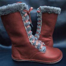 Winter Snow Boots Women 2019 Winter Fashion Warm Cotton Mid-Calf Boots Ladies Lace-Up Flock Women Boots Ladies Shoe Size Plus 43 цена 2017