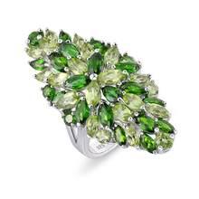 Gz zongfa moda estilo flor tipo natural ametista gema mulheres jóias finas 925 anel de prata esterlina