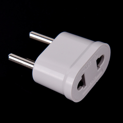 5pcs EU Plug Adapter Japan US To EU Euro European Travel Adapter Electric Plug Power Cord Charger Sockets Outlet