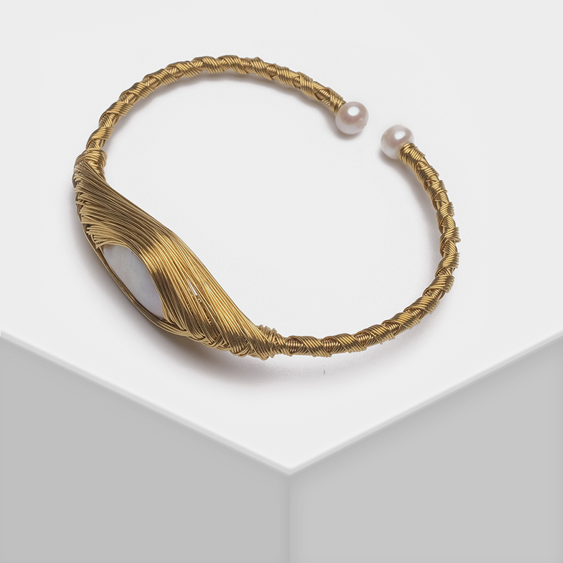 Amorita Mode tissé design exquis naturel perle bracelet