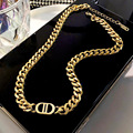 Fashion Punk Letter Cuban Link Chain Ins Thick Choker Women's Stainless Steel Necklace For Women Jewelry