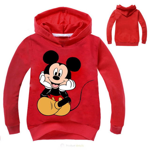 Mickey Minnie Kids Sweatshirts For Boys Girls Autumn Spring Teenage Hoodies Long Sleeve Hooded Kids Pullover T Shirt Sportswear 1