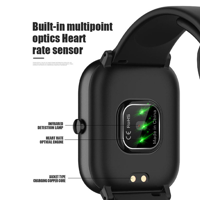 2020 NEWEST Smart Bracelet Heart Rate Monitor Waterproof Sports Smart Watch Support Android IOS 6