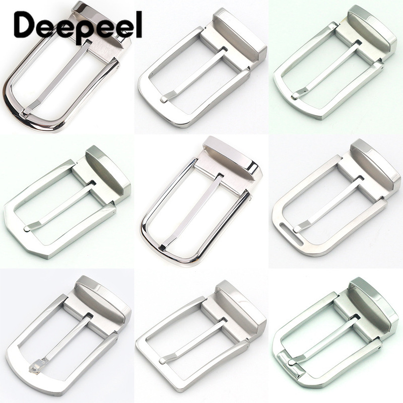 Deepeel 1pcs 35mm Men's High-end Stainless Steel Belt Buckle Brand Pin Buckle Head DIY Leather Craft Business Accessories BD465