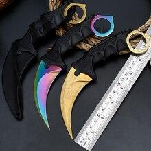 Стальные коготь ножи охотничий нож CS GO Тактический коготь Шейный нож Походный походный открытый самооборонный охотничий нож для выживания