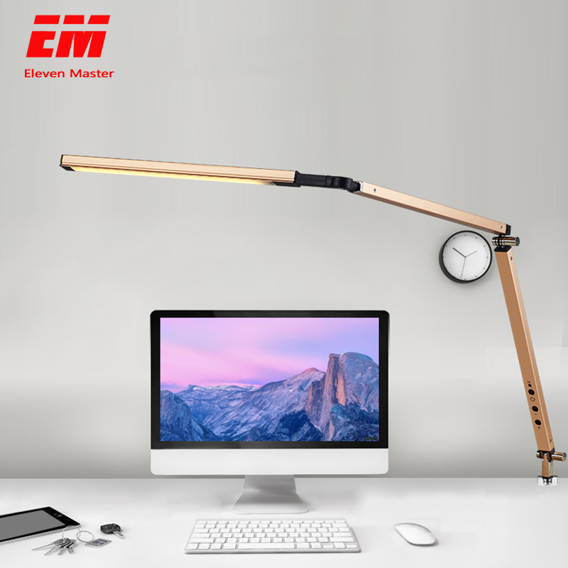 Long Arm Table Lamp 48 LEDs Clip Mounted Office LED Desk Lamp USB Flexible Eye-protection Reading Lamps For Work Study ZZD0016