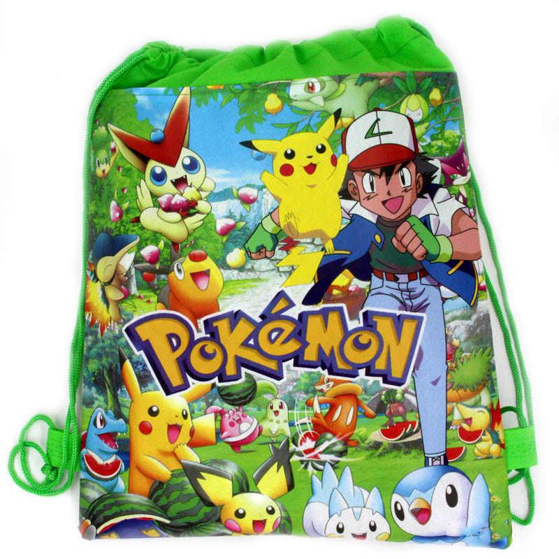 Festa De Aniversário Do Dinossauro pçs/lote 10/Unicórnio/Princesa/sereia/pokemon/Mario/Spiderman Mochila Projeto Decorar drawstring Sacos de Presentes
