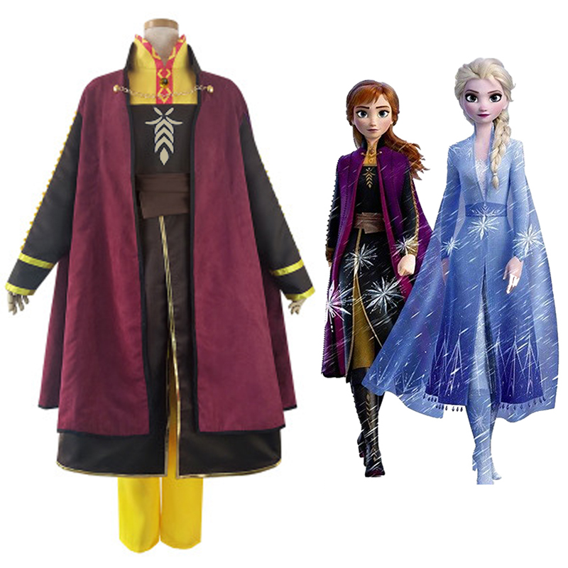 Full Set Women Uniform Halloween Costume 2019 Movie Frozen 2 Anna Cosplay Costume Adult Deluxe High Quality Custom Made Anime