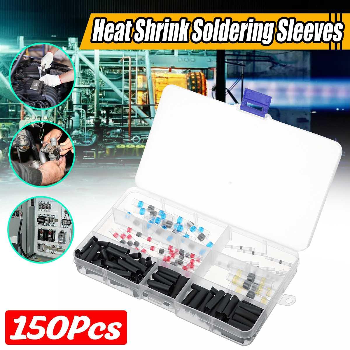 100/150pcs Multi Color Polyolefin 2:1 Halogen-Free Heat Shrink Tubing Tube Assortment Sleeving Wrap Tubes
