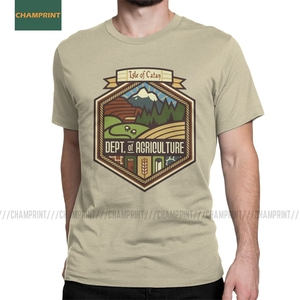 Men Settlements Welcome Settlers Of Catan T Shirt Board Wheat Sheep Wood Gamer Game Pure Cotton Short Sleeve Tees Adult T-Shirts(China)