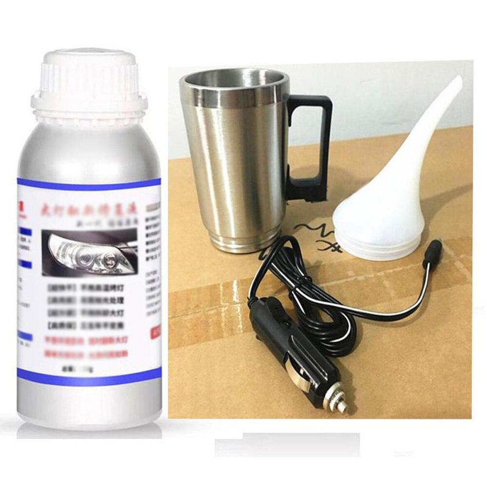 1 Set Car Headlight Lens Restoration Kit Atomizer Spray Cup+2*Lid+50ml Refurbish Fluid Lens Repair Kit Hydrophobic Glass