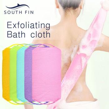 Ręcznik kąpielowy pociągnij pasek z tyłu płuczki do mycia złuszczający peeling gąbki nowe szczotki do kąpieli gąbki szczotka do ciała gąbka produkt łazienkowy tanie i dobre opinie ISHOWTIENDA nylon HIGIENICZNE Kula do kąpieli Gąbka do kąpieli Kwiat do kąpieli Scrubbers Bath Towel Pull Back Towel