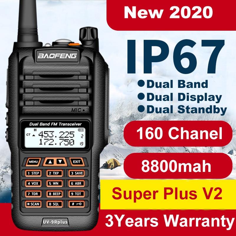 160 Chanels Baofeng UV 9R Plus 30km IP67 Waterproof Walkie Talkie 2 Way Radio Baofeng Uv9r Plus Vhf Uhf Long Range Ham CB Radio