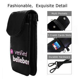 Image 2 - ジャスティンビーバーショルダーバッグ検証belieber革バッグ高品質パターン女性のバッグクロスボディ女性十代財布