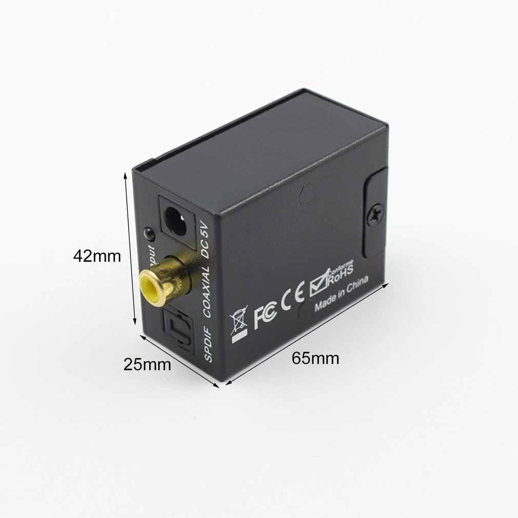 3.5mm דיגיטלי קואקסיאלי לאנלוגי L/R RCA אודיו ממיר מתאם דיגיטלי סיבי כדי סימולציה