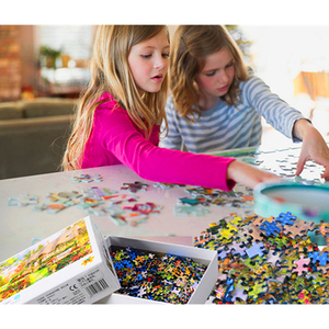 Image 2 - 1000 pezzi Mini Puzzle per adulti e bambini semplice sfida giocattoli gioco di decompressione del paesaggio (dimensioni 42x30cm)