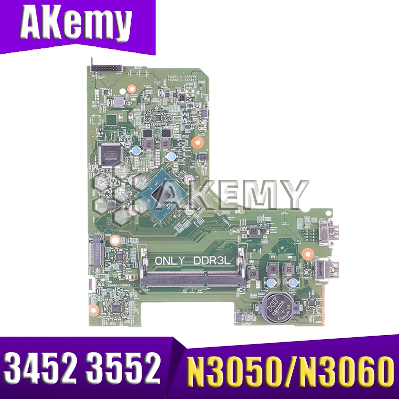 CN-0PW4MN  PW4MN Mainboard FOR DELL INSPIRON 3452 3552 Laptop Motherboard Iris BSW MB 14279-1 PWB:896X3 N3050/N3060 NOTEBOOK PC