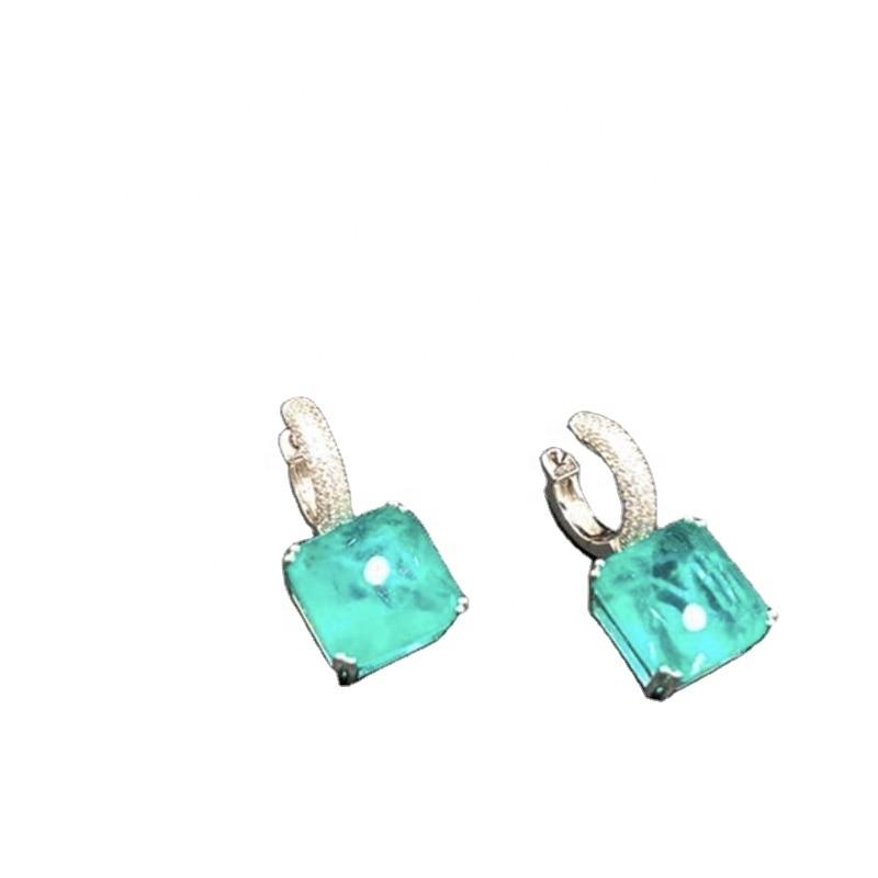 Earrings Jewelry 925 Sterling Silver Stone Elegant Simple Women Gift Zircon Party Muassanit Wedding Luxury Quality Fine Jewelry