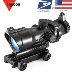 Trijicon оптическим 1X32 Red Dot лазерный прицел областей для Страйкбольное ружье подходят 20 мм Rail Оптический прицел прозрачный Охотник диапазон
