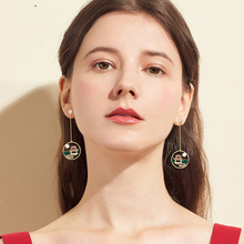 цена на 2020 new style, fashion, retro, national style, personality, geometry, pearl, long style, women's metal Earrings