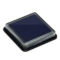 8PCS LED Solar Lamp Outdoor Waterproof Stair Floodlight Wall Embedded garden decor Lighting IP68 Sealant Caulk Deck light