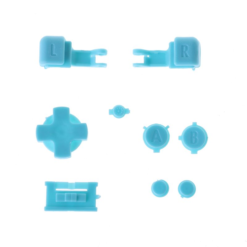 Full Button Set Plastic for GBA Game Boy Advance SP A B Select Start Power On Off L R Buttons D Pad Part Replacement in Replacement Parts Accessories from Consumer Electronics