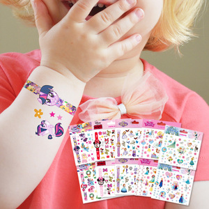 Disney cartoon sticker Tattoo sticker Disney Princess Frozen Anna Elsa Princess Sofia Mickey Mouse children Tattoo Stickers toys