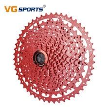VG Sports 9 10 11 12 Speed 11-40T/42T/46T/50T MTB Bicycle Freewheel Ultralight Mountain Bike Cassette Bracket Sprocket Red Black