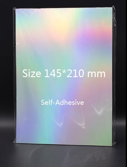 Size 145*210mm Holographic Rainbow Glossy Self Adhesive Vinyl Label Sticker For Scrapbooking Craft 5/10/30/50 You Pick