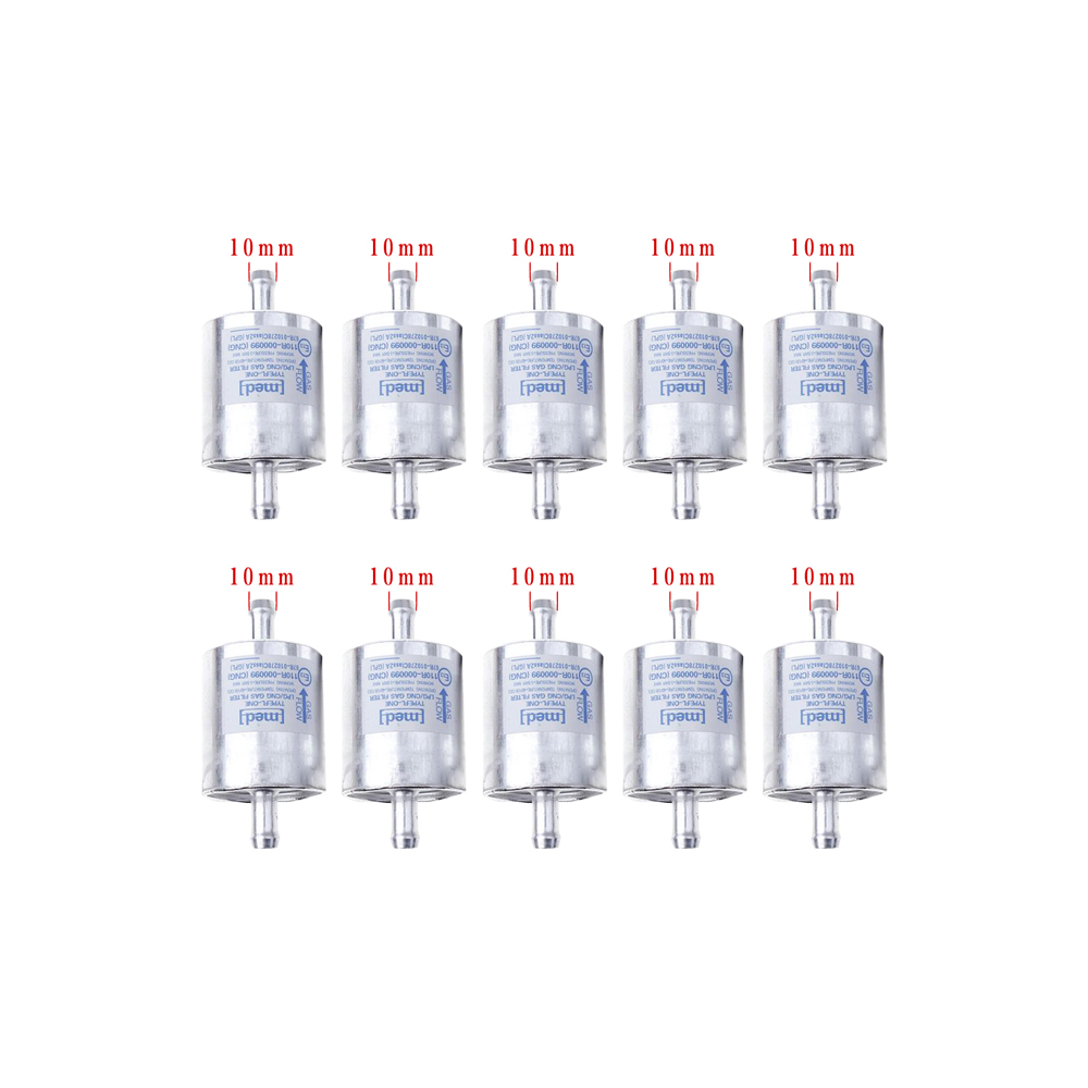 Imported Quality 10 Pcs LPG CNG Gas Filter For Gas Car 10mm 15mm High Quality