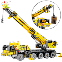 665pcs Technic Engineering Lifting Crane Building Blocks Compatible legoing Technic truck Construction Brick Toys For children