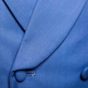 Image 5 - Mężczyźni garnitur kamizelka jesień nowa solidna kurtka bez rękawów Business Casual mężczyzna kamizelka społeczna czarny szary niebieski moda Plus rozmiar kamizelka
