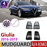 Car Mudflap for Alfa Romeo Giulia 952 Sedan Saloon 2016~2019 Fender Mud Guard Flap Splash Flaps Mudguards Accessories 2017 2018