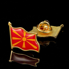 Macedonia Republic Enamel Pin Metal Flag Lapel Pin Brooches Lapel Jewelry поло print bar macedonia