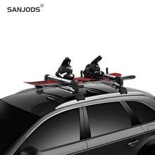 цена на SANJODS Ski Board Carrier For Car Sleek Aerodynamic Ski Rack For All Types Of Skis And Snowboards
