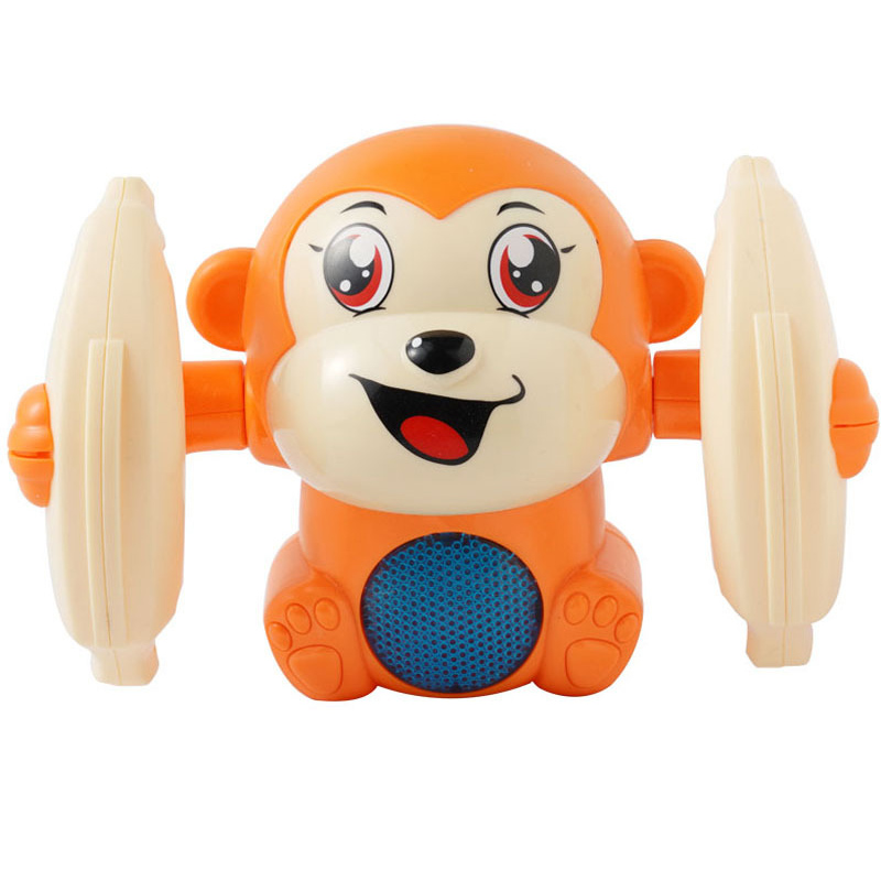 Hot Sale Baby Voice Control Rolling Little Monkey Toy Walk Sing Brain Game Crawling Electric Toys