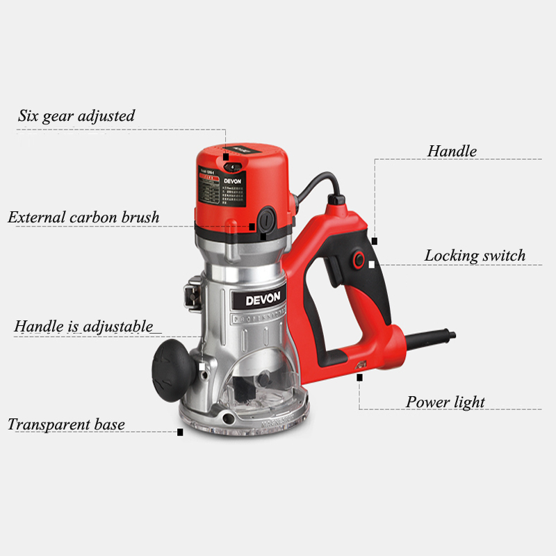 Electric Trimmer Wood Device Engraving Machine Multifunction DIY Woodworking Tools 1316 1 in Wood Routers from Tools