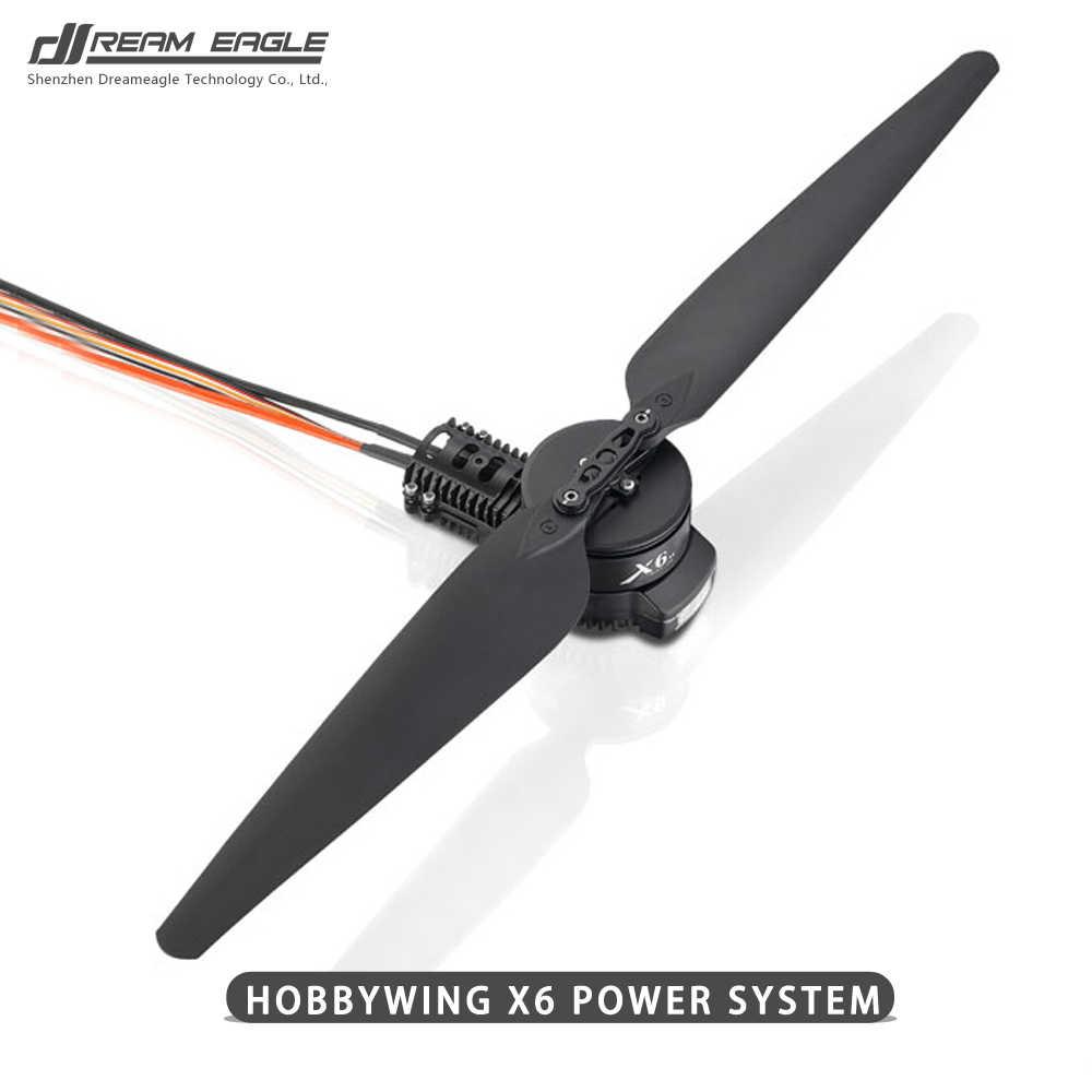 Sistema de potencia hobbywing X6 para motor de sistema de propulsión de Drones agrícolas, ESC, hélice 2388 y montaje de motor