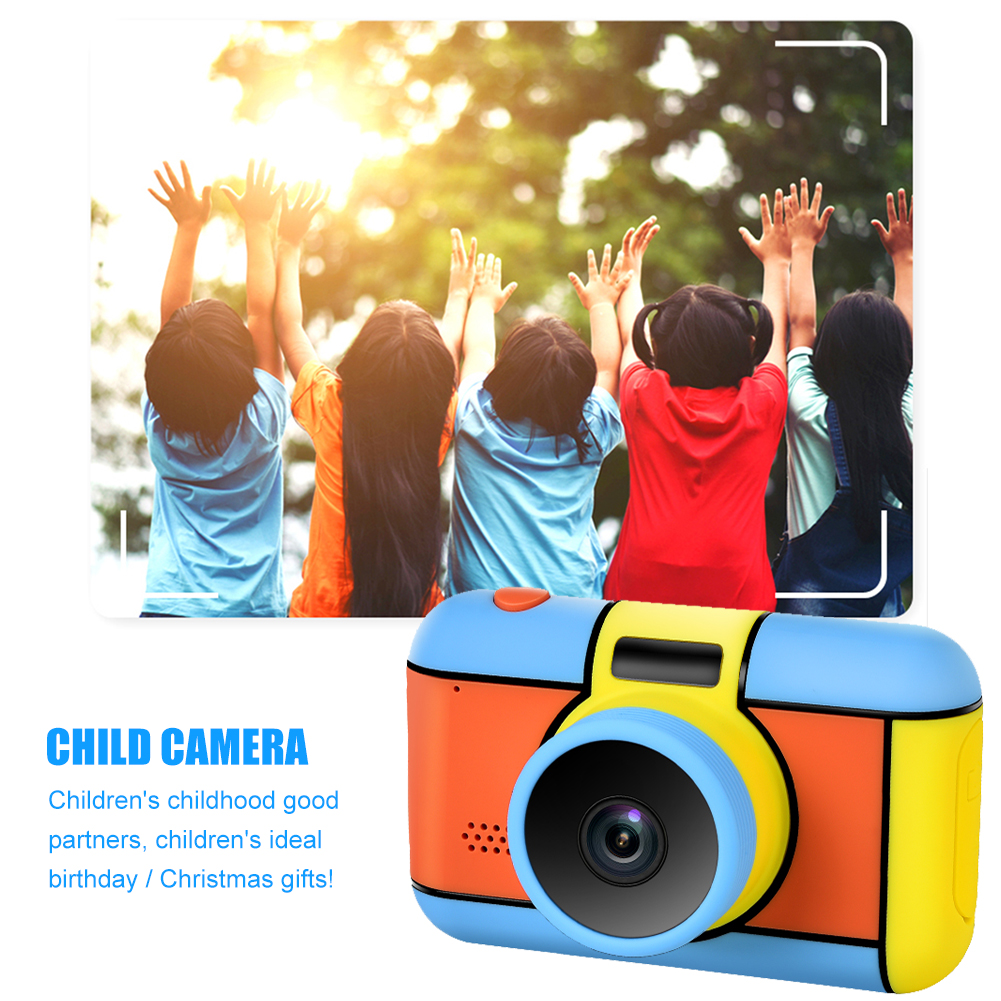 """2400W Children Digital Camera Flash Light Selfie Rechargeable Camera Toy 2.4"""" HD Screen Video Camcorder Gift For Kid Boys Girls"""