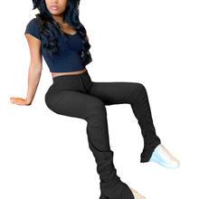 Модные женские брюки капри с высокой талией повседневные уличные