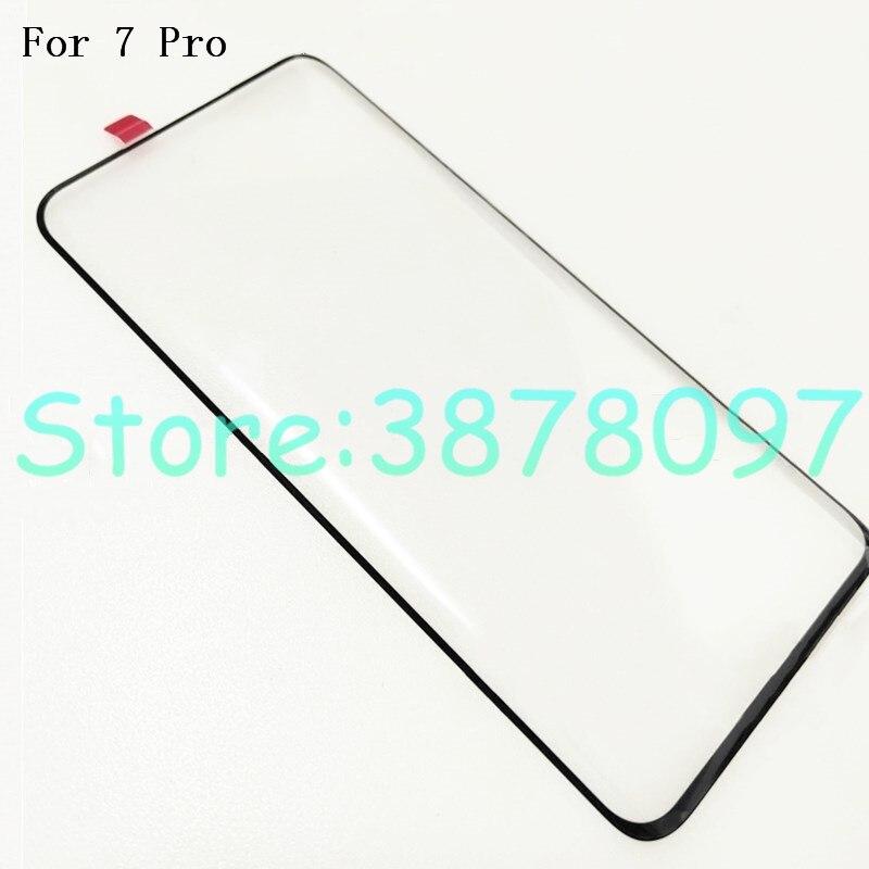 Оригинальное Переднее стекло для Oneplus 7 Pro One Plus 7 Pro Oneplus7 Pro, сенсорный ЖК-экран, внешняя панель, Замена объектива