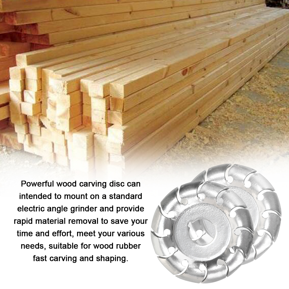 12 Teeth 16mm Multifunctional High Hardness Wood Carving Disc Angle Grinder Accessories Woodworking Tool