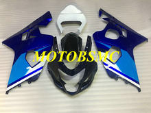 Motorcycle Fairing Kit for GSXR600 750 K4 04 05 GSXR 600 GSXR750 2004 2005 ABS Blue White Black Bodywork+Gifts SG88