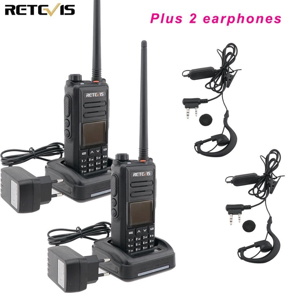 DMR GPS Digital Walkie Talkie 5W 2PCS Retevis RT72 UHF VHF Dual Band Two Way Radio SMS Digital Radio Handheld Ham Transceiver
