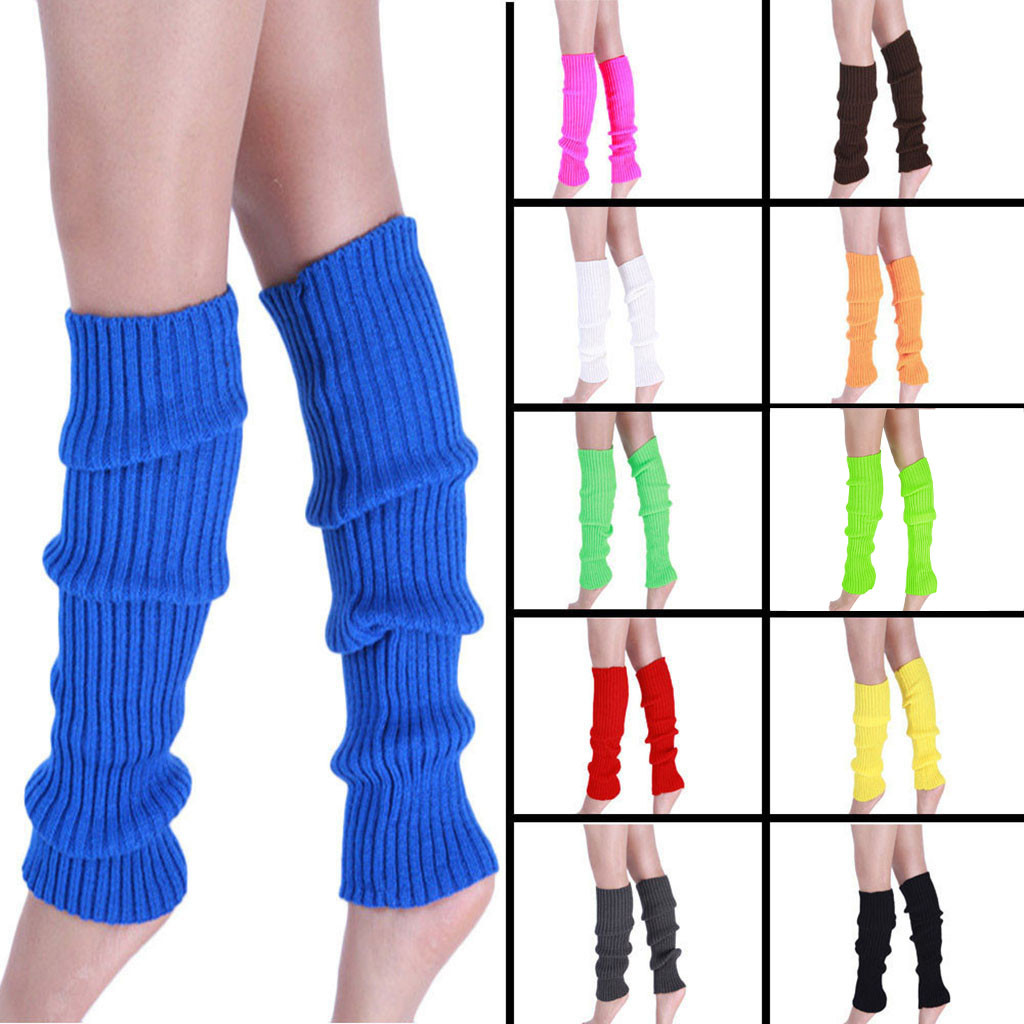 Boot Warmer Socks Women Knitted Leg Stockings Long Cuffs Thigh High Stockings Over The Knee Socks Cotton Leg Warmer ##4