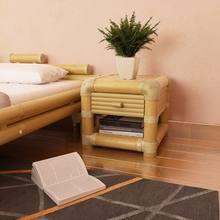 Table de chevet en bambou naturel, dimensions 45x45x40 cm