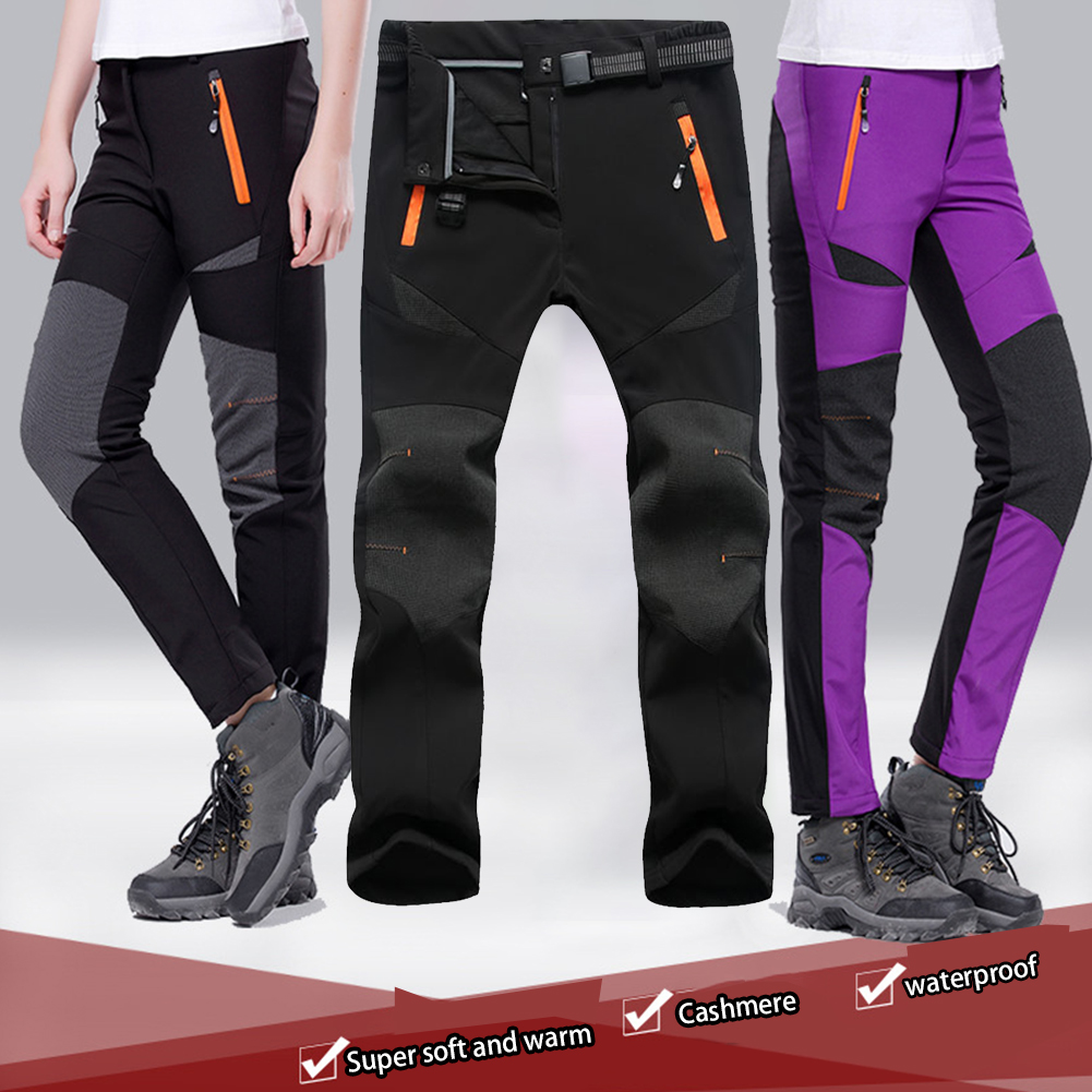 Women Ski Pants Climbing Lined Waterproof Snow Insulated Camping Winter Quick Dry Warm Fleece Outdoor Hiking Softshell Windproof