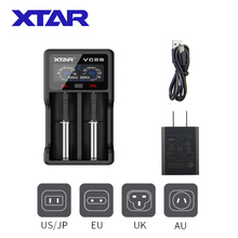 Xtar VC2Sバッテリー充電1.2vニッケル水素aaaa 3.6vリチウムイオン10400 26650電池usb充電パワーバンクディスプレイ18650充電器